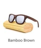 Silver II, Men/Woman Glass Bamboo Sunglasses Retro Vintage Wood Lens Han... - $35.59