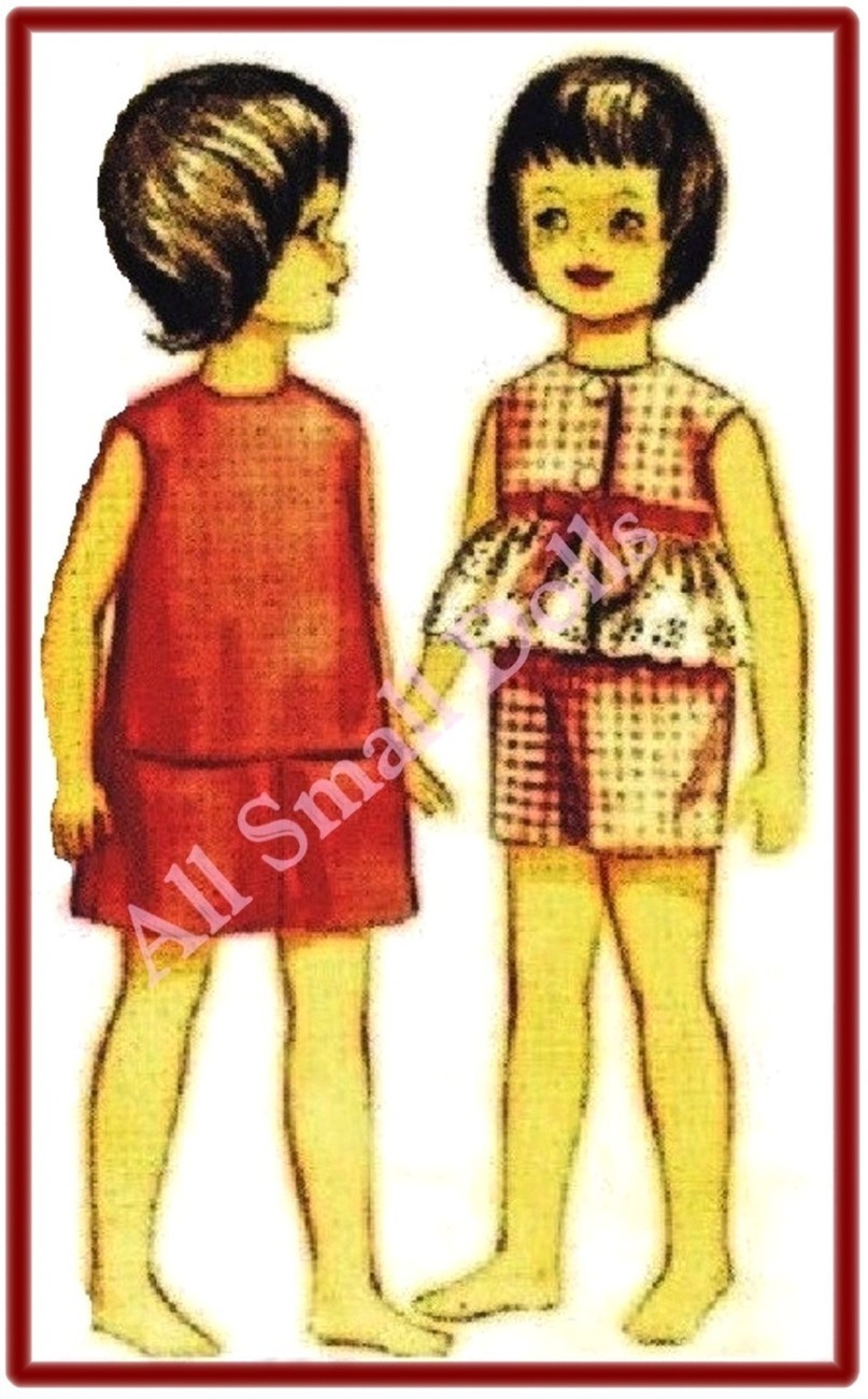 "Vintage Doll Clothing Pattern for 9 1/2"" Skipper No. 2"