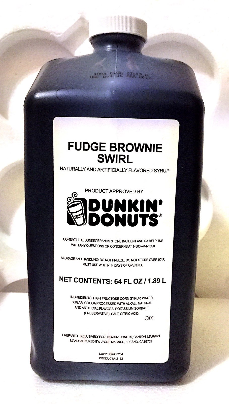 Dunkin Donuts Fudge Brownie Swirl Syrup 64oz and 50 similar items