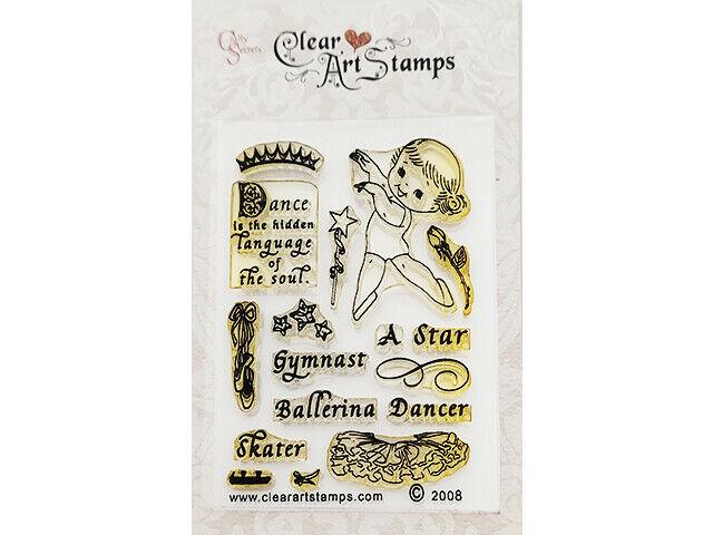 Crafty Secrets Clear Art Stamps Little Dancer Cling Stamp Set #SS09