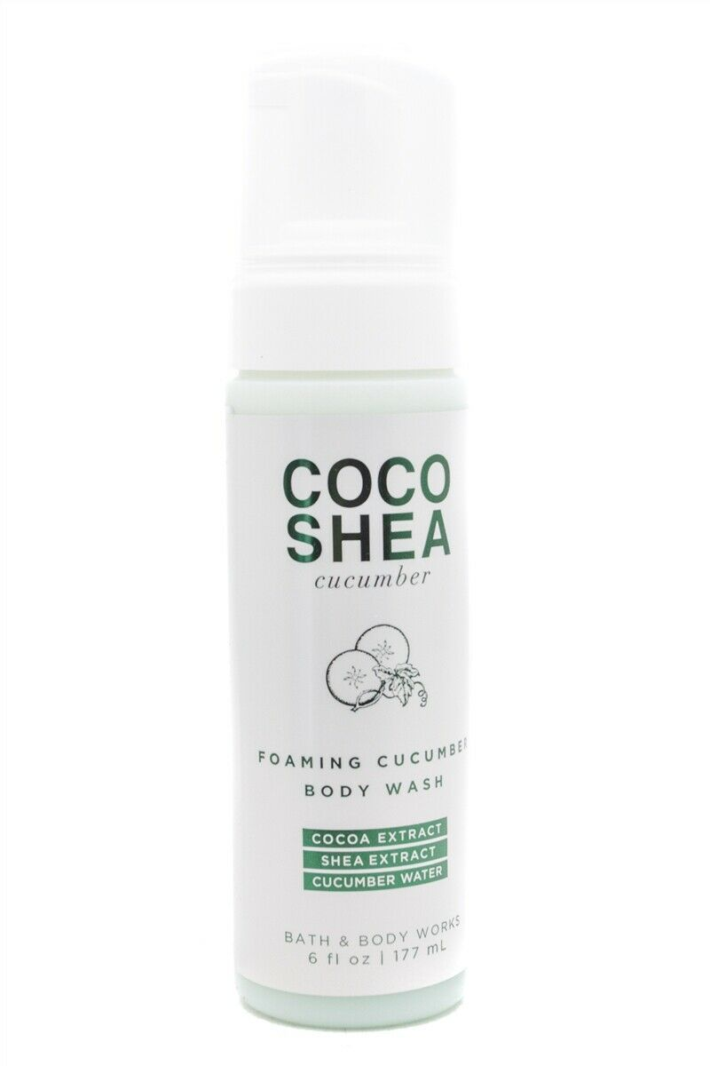 Primary image for Bath & Body Works Coco Shea Cucumber Foaming Body Wash  6 fl oz