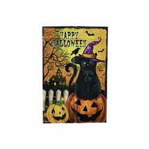 "Ashland Happy Halloween Black Cat Garden Flag,12"" x 18"" - $13.99"