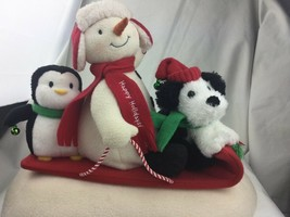 Hallmark Animated Jingle Pals 2007 Snowman and Friends Sleigh Ride - $32.70
