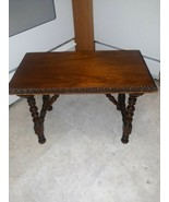 Berkeley & Gay Furniture Antique Small Walnut Side Table made in the USA - $163.35