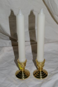 PartyLite Seacrest Candlestick Pair Taper Party Light