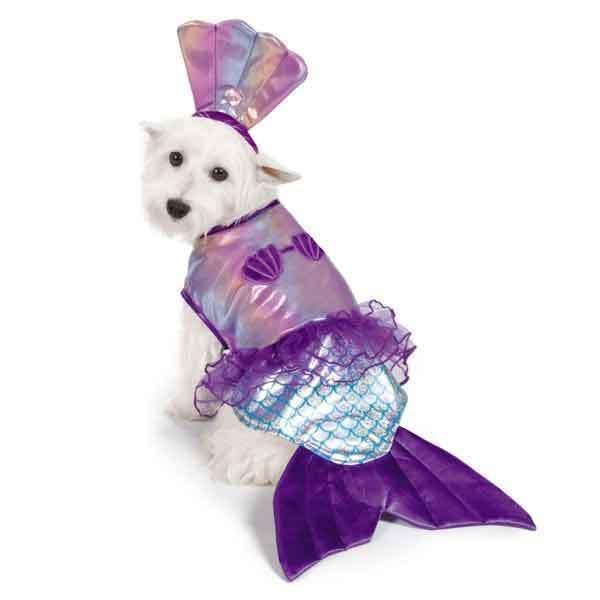 Iridescent Mermaid Dog Costume