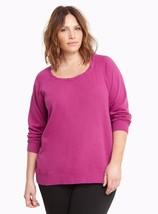 New Torrid Womens Plus Size 4X Purple Pigment Dye W Cool Zip Back Sweatshirt - $24.18