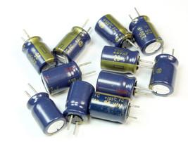 10pcs Panasonic FC 220uf 25v 105C Radial Electrolytic Capacitor  (8mm x 12mm) - $5.64