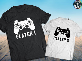 Father son matching, Player 1 Player 2, Matching shirts, Father son shir... - $39.38 CAD