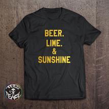 Beer Lime & Sunshine tshirt, Summer tshirt, Beer Lime and Sunshine shirt... - $19.68 CAD