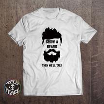 Grow a beard then we'll talk, Funny beard, Bearded tshirt, Beard shirt, ... - $19.68 CAD