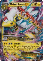 Mega M Ampharos EX 28/98 Rare Holo XY Ancient Origins Pokemon Card - $8.99