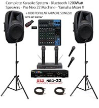 Complete Karaoke System Bundle Bluetooth Active Speakers Pro Neo 22 Mach... - $924.09