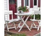 3 piece patio bistro set balcony garden yard dining furniture folding white cafe thumb155 crop