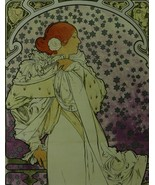 The Lady of the Camellias (La Dame Aux Camelias) - Mucha - Framed Pictu... - $32.50