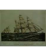 """Clipper Ship """"Sweepstakes"""" (Sepia) - Framed print - 14 x 11 - $32.50"""