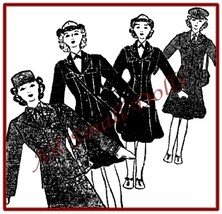 """Vintage Cloth Doll Pattern for 12"""" Military Women  - $5.99"""