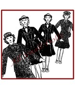 "Vintage Cloth Doll Pattern for 12"" Military Women  - $5.99"