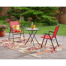 Outdoor Patio Bistro Set 3 Piece Garden Cafe Backyard Yard Folding Chair... - $139.99