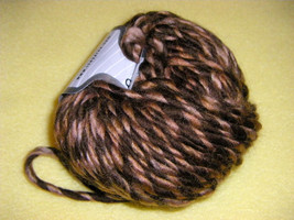 Three Skeins Chocolate Caramel Twist Wool Blend Yarn by Ice Yarns - $15.04 CAD