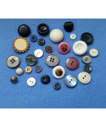 Thirty Vintage and Modern Buttons, button assortment mix no. 3 - $5.50