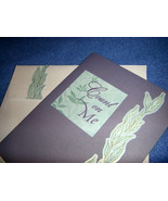 Count on Me - handmade blank card, one of a kind, lavender and light blue - $3.25
