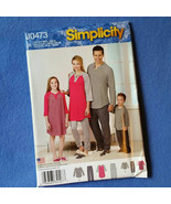 Uncut Simplicity Knit Top and Pajama Pants Pattern J0473 - sizes XS thro... - $7.99