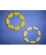 Yellow Twist Ceramic beaded stretch bracelets -... - $15.00