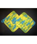 Neon Splash - 2 Bumpy Cotton Handmade Crochet W... - $10.00