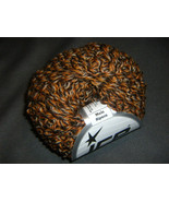 Two Skeins Orange and Brown Alpaca Merino Curly... - $9.00