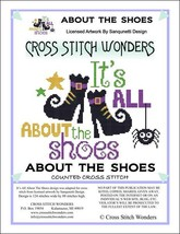 It's All About The Shoes halloween cross stitch chart Cross Stitch Wonders - $5.00
