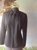 Liz Claiborne Wool Black Long Sleeve Blazer Suit Jacket SZ 10 - $34.64