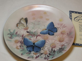 On Gossamer Wings Eastern Tailed Blues Lena Liu collector plate 6th 1989 #% - $32.17