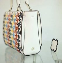 Tory Burch Robinson Embroidered Small Zip Tote image 3