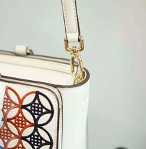 Tory Burch Robinson Embroidered Small Zip Tote image 7