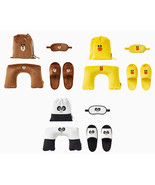 LINE Friends Compact Travel Set (Neck Cushion / Eye Mask / Slippers) *Tr... - $64.90