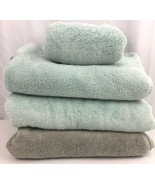 Hotel Collection Turkish Bath Towel Lot Hand Towel Light Blue Gray Towels - $33.62