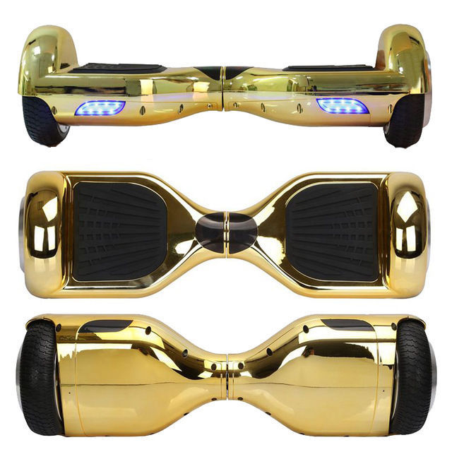 Chrome Gold Bluetooth Hoverboard Two Wheel Balance Scooter Free Shipping UL2272