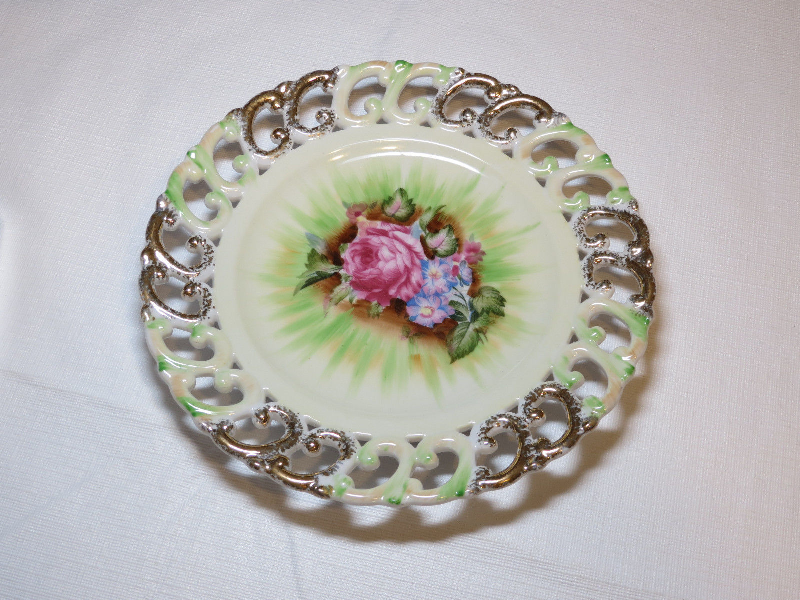 Primary image for Lenwile China Plate Rose Ardalt Japan hand painted 6679 vintage #%