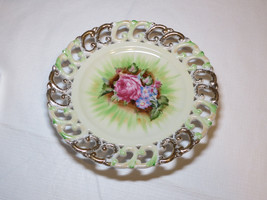 Lenwile China Plate Rose Ardalt Japan hand painted 6679 vintage #% - $39.59