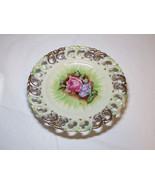 Lenwile China Plate Rose Ardalt Japan hand painted 6679 vintage #% - $39.59