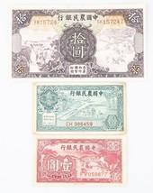 1935-1940 China Yuan & Cents Notes Lot (3) VF-CU Farmer's Bank P#459a 46... - $198.00