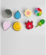 Lapel Pins Gym Badges Kanto Region -- Sanshee - $45.00