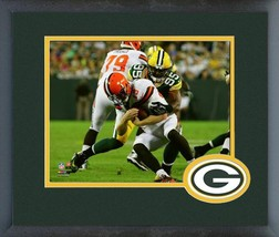Datone Jones 2016 Green Bay Packers vs Browns -11x14 Logo Matted/ Framed Photo - $43.55