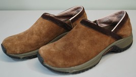 Merrell Encore Adams Brown Suede Leather Slip On Clogs/Mule Women's 7.5 ... - $29.60