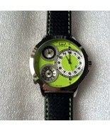 Curtis & Co Big Time World 50mm 3-Time Zone Stainless Steel Watch Green ... - $750.00
