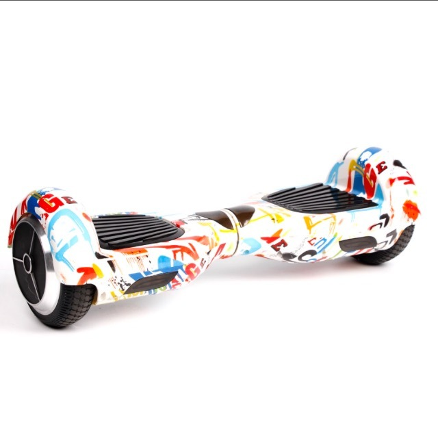 Graffiti White Hoverboard Two Wheel Balance Scooter Fast Shipping