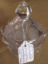 FOSTERIA COIN GLASS VINTAGE COLLECTIBLE SUGAR B... - $27.66