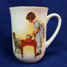Vintage Norman Rockwell HMI 1981 Party Time Coffee Mug Mint Unused Free ... - $14.01