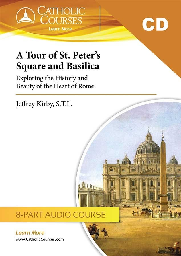 A tour of st. peter s square and basilica  audio cd set   1 lecture guide  tour of st peters cd